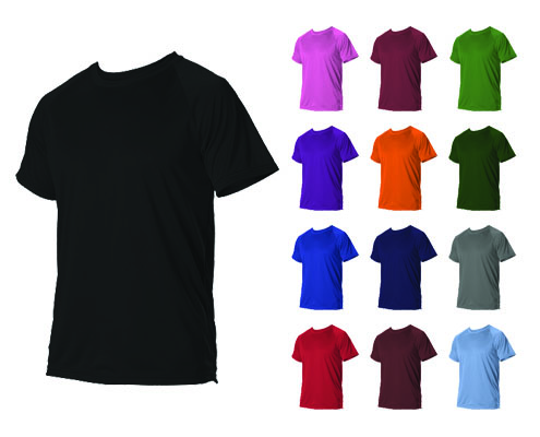 Alleson Heather Tech Short Sleeve Tee