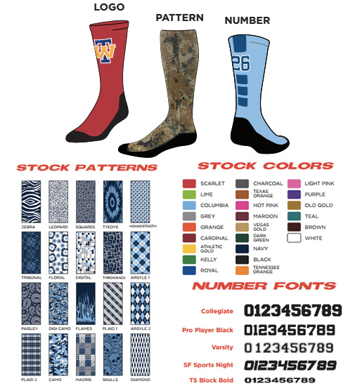 Profeet Pro Lite 360 Custom Sublimated Socks