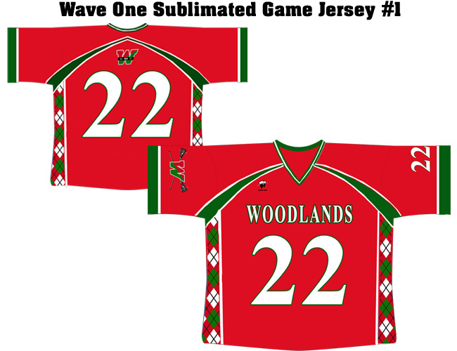 Wave One Sublimated Game Jerseys