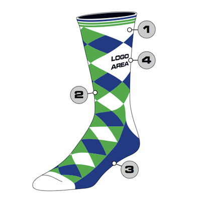 Argyle Custom Crew Sock