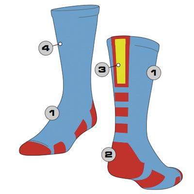 Baseline 2 Custom Crew Sock