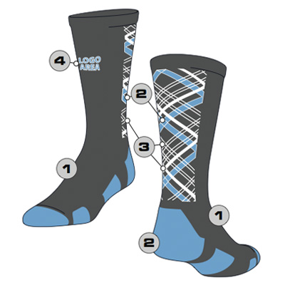 Plaid Custom Crew Sock
