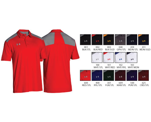 UA Team Armour Colorblock Polo