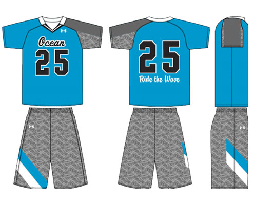 UA NFHS Armourfuse Victory Lacrosse Jersey II and Short