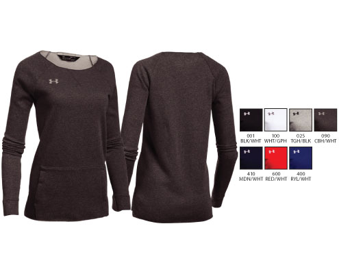 UA Women's Hustle Fleece Crew