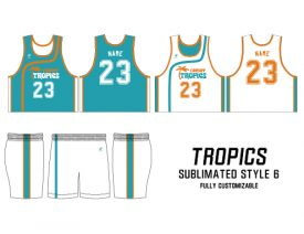 SUBLIMATED REVERSIBLE | STYLE 6: TROPICS