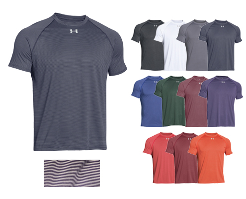 UA Stripe Tech Locker Tee