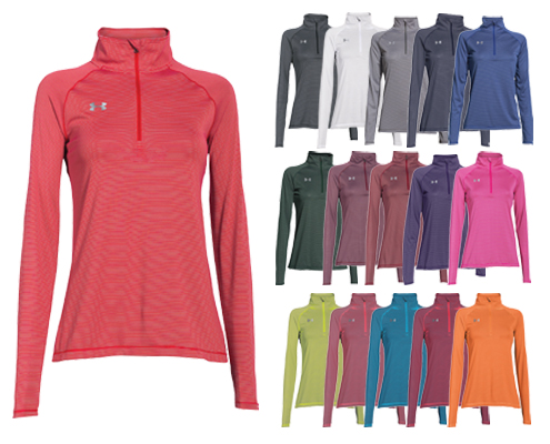 UA Women's Stripe Tech 1/4 Zip