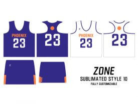 Wave One Women's NFHS Sublimated Uniform #10 ZONE