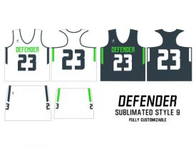 Wave One Women's NFHS Sublimated Uniform #9 DEFENDER