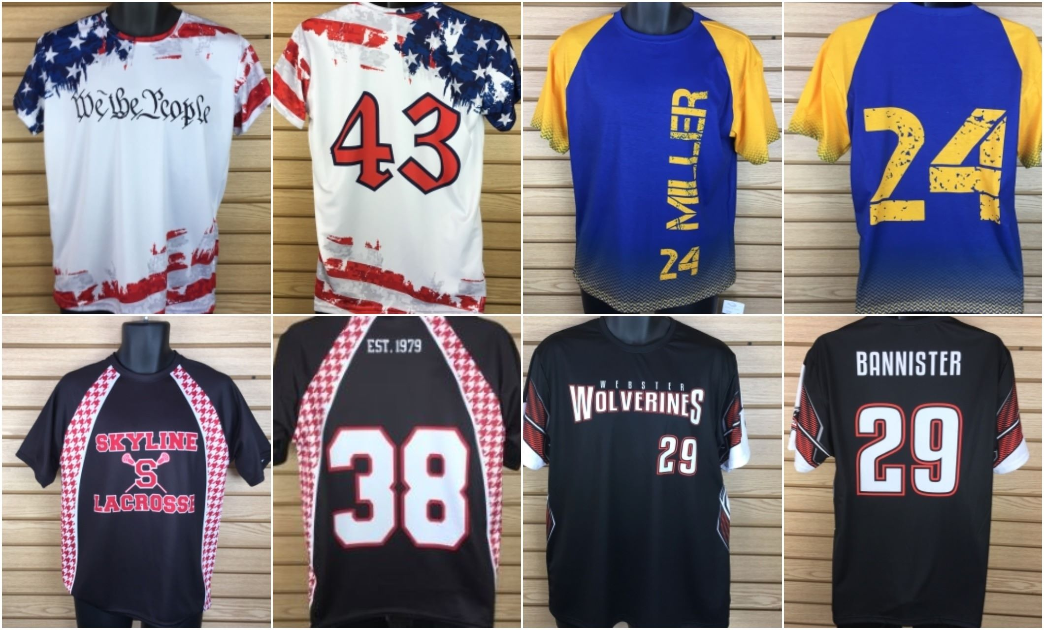 Wave One Sports Special Pricing Offers – Allyson Athletics Sublimated Crew Neck Shirts