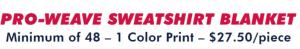 Custom Team Pro Weave Sport Blanket