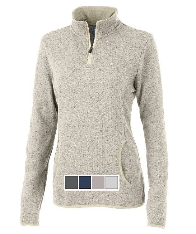 Charles River Womens Heathered Fleece Pullover