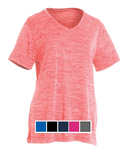Charles River Women's Space Dye Performace Tee