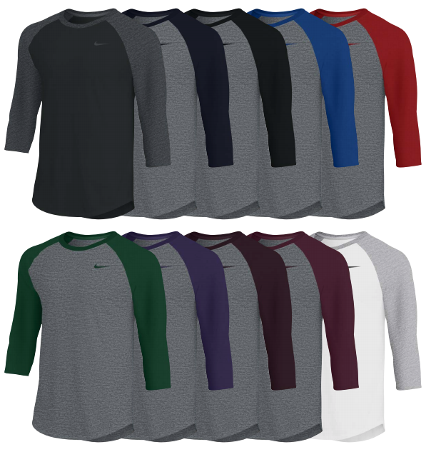 Nike Dry 3/4 Sleeve Raglan Top