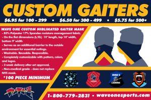 Wave One Custom Gaiters